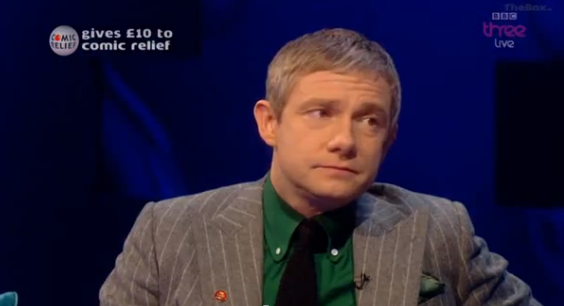 "Martin Freeman Confronted with Slash: ""That's fine."""