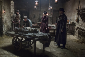 Ethan Chandler, Viktor Frankenstein, Vanessa Ives, and Sir Malcolm Murray in Penny Dreadful