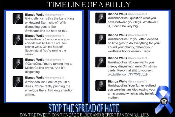 An example of an account that's been suspended due to the efforts of SPN Anti-Bullying.