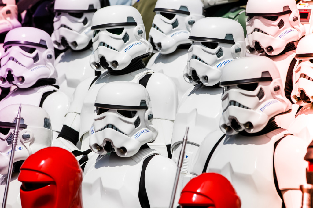 A sea of Stormtroopers