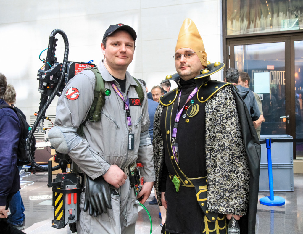 Ghostbusters meet Coneheads