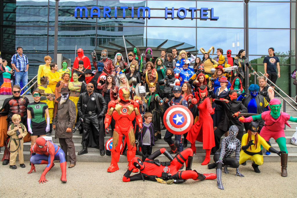 Marvel/DC group shot