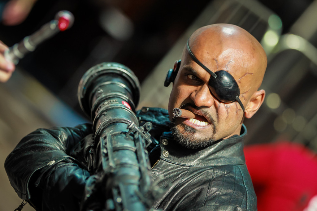 Nick Fury & his bazooka