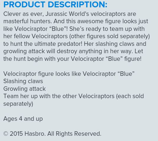 hasbro description