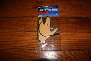 Star Trek Air Freshener from Platicolor. Drive On and Prosper!