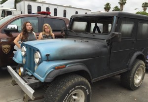 teen wolf set visit - stiles' jeep