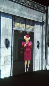 Effie Trinket welcomes you to the exhibition.