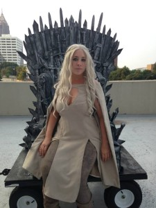 Ice and Fire Con Iron Throne Daenerys Cosplay