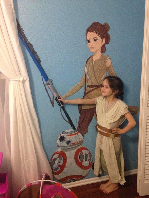 Emily Rose's daughter (and mural)!