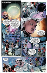 Storm leading the team in Extraordinary X-Men #6