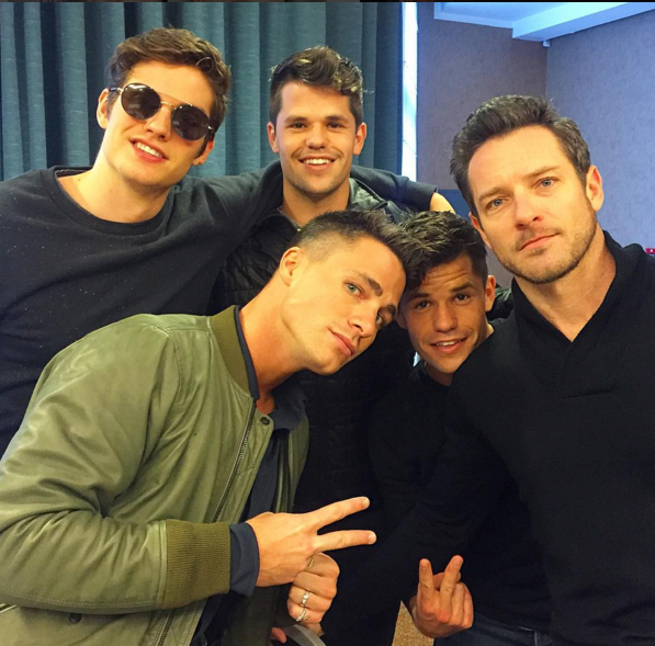 Colton Haynes with Teen Wolf cast