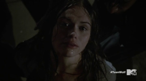 Lydia escaping in Teen Wolf