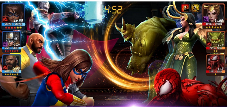 Marvel Future Fight Thor and Ms. Marvel
