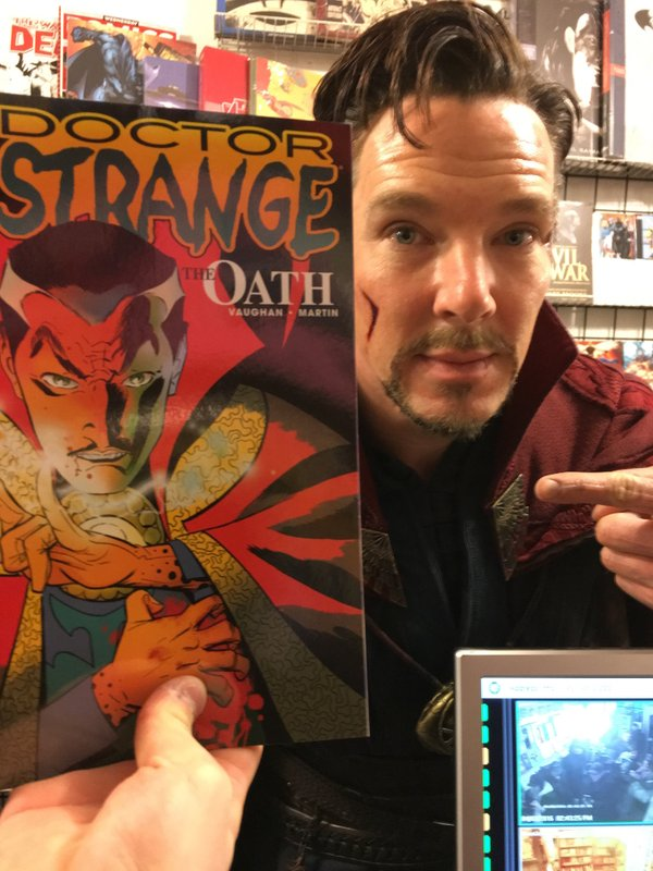 Benedict Cumberbatch Dressed as Doctor Strange