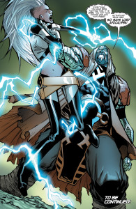 Storm and Colossus in Extraordinary X-Men Issue 9