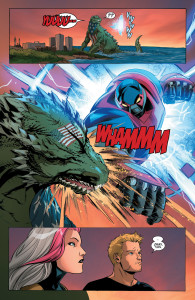 New Avengers 9 Up From the Depths Avenger Five vs. American Kaiju