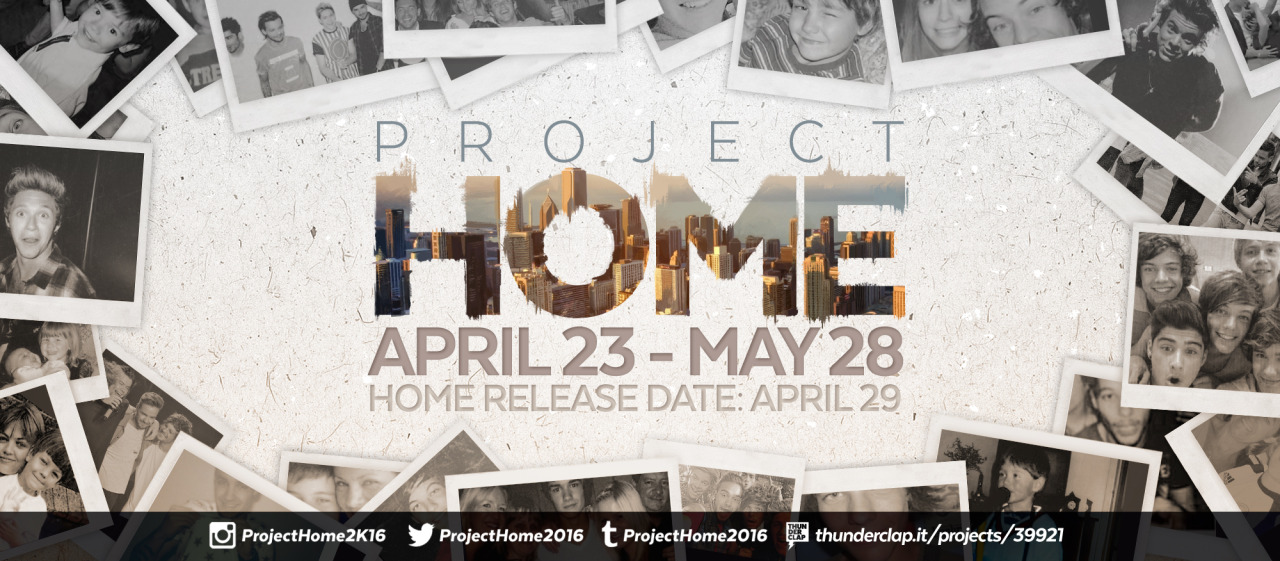 One Direction Project Home Banner