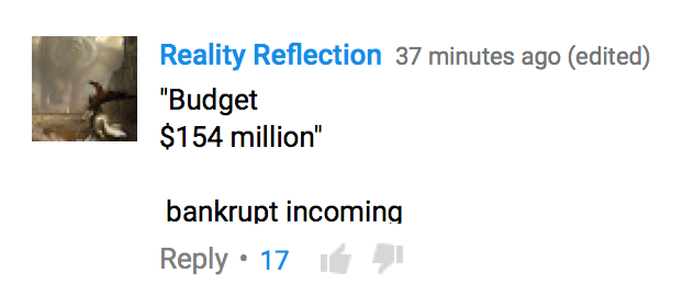 second Ghostbusters trailer YouTube comment
