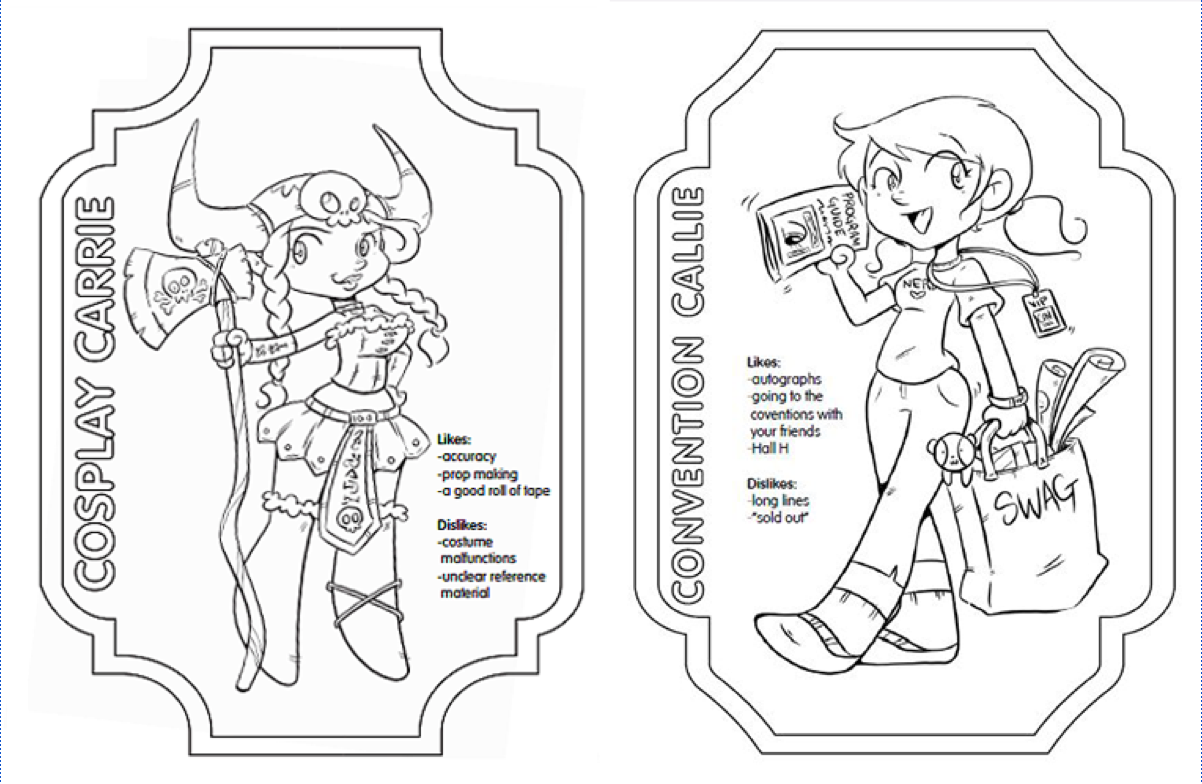 the fangirls coloring book from her universe press