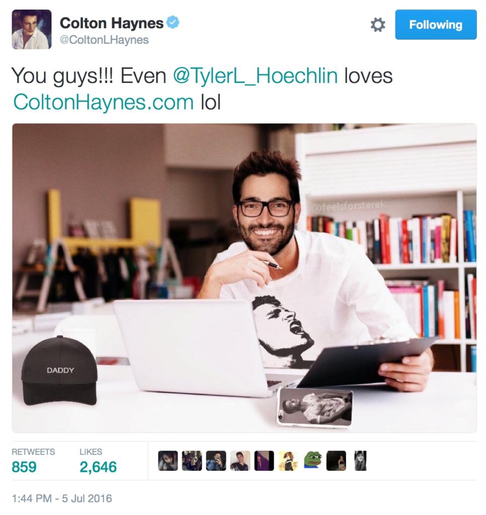 PositiviTEA Tuesday Colton Haynes Tyler Hoechlin