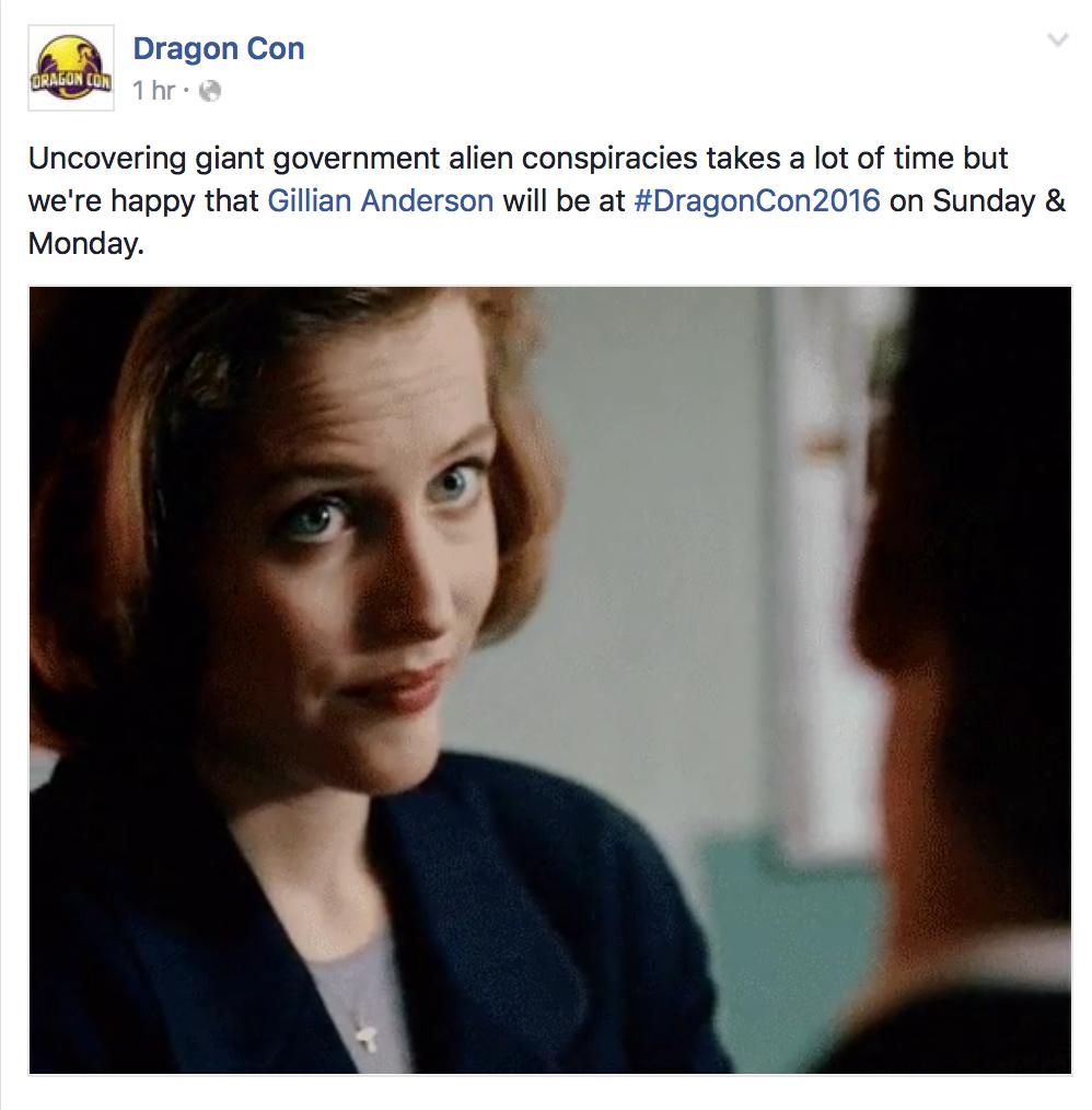 Gillian Anderson Dragon Con 2016