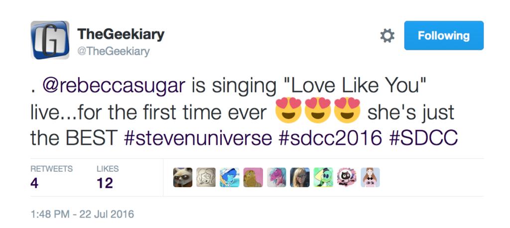 PosiviTEA Tuesday Comic-Con 2016 Steven Universe Rebecca Sugar
