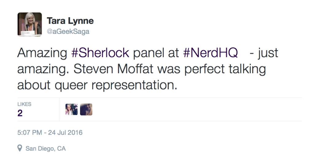 PositiviTEA Tuesday Comic-Con 2016 Steven Moffat NerdHQ