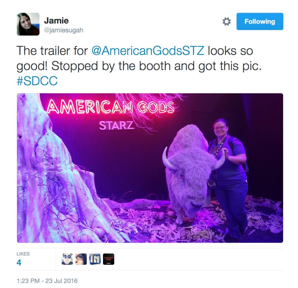 PositiviTEA Tuesday Comic-Con 2016 American Gods