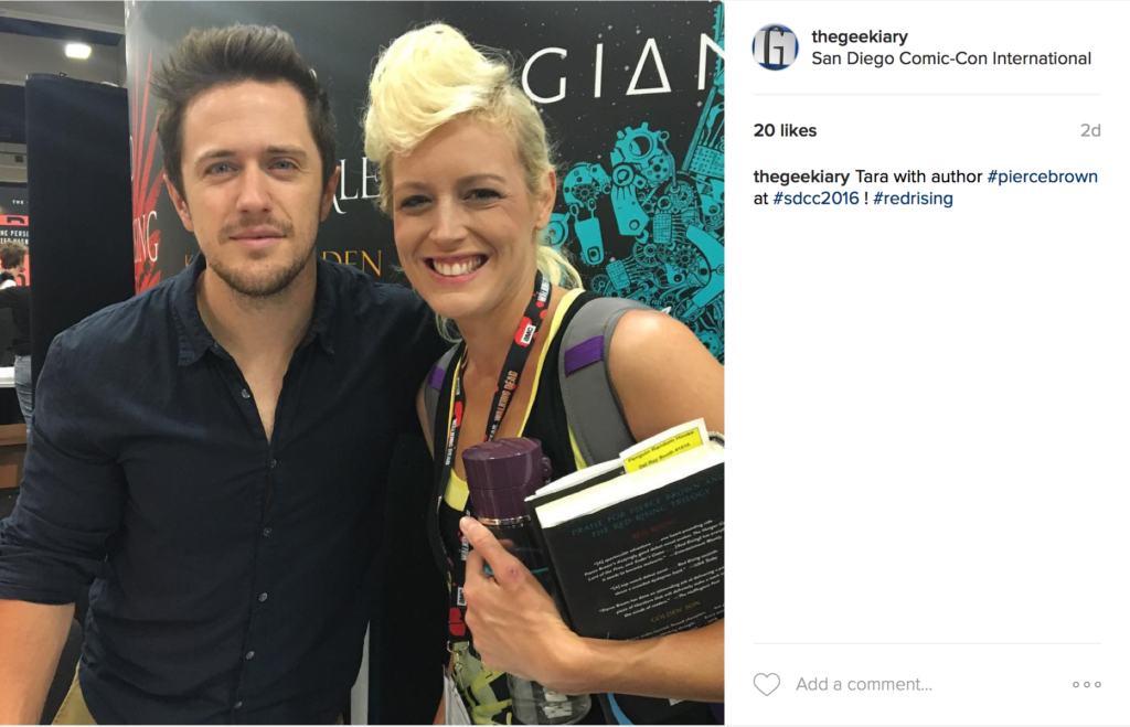 PositiviTEA Tuesday Comic-Con 2016 Pierce Brown Red Rising