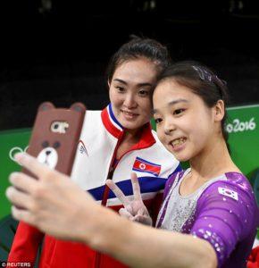 women's gymnastics - North Korea & South Korea