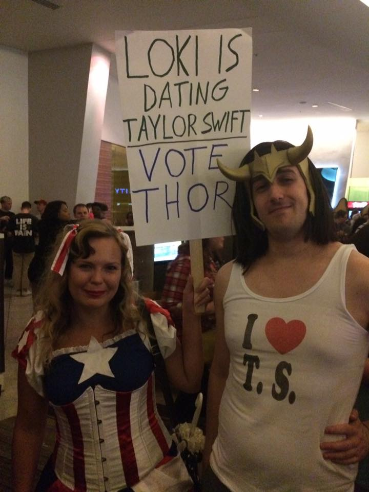 Dragon Con 2016 Cosplay Loki Captain America Taylor Swift