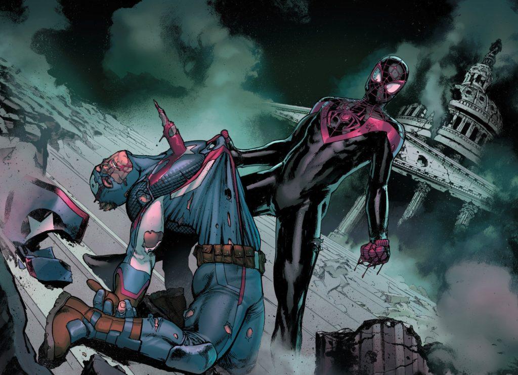 Civil War II Issue 5 Miles Morales Spider Man kills Steve Rogers Captain America