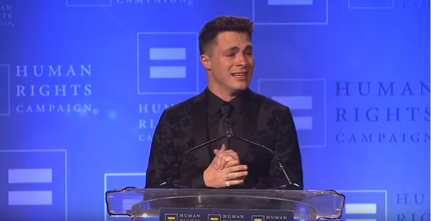 Colton Haynes Human Rights Campaign Visibility Award Speech