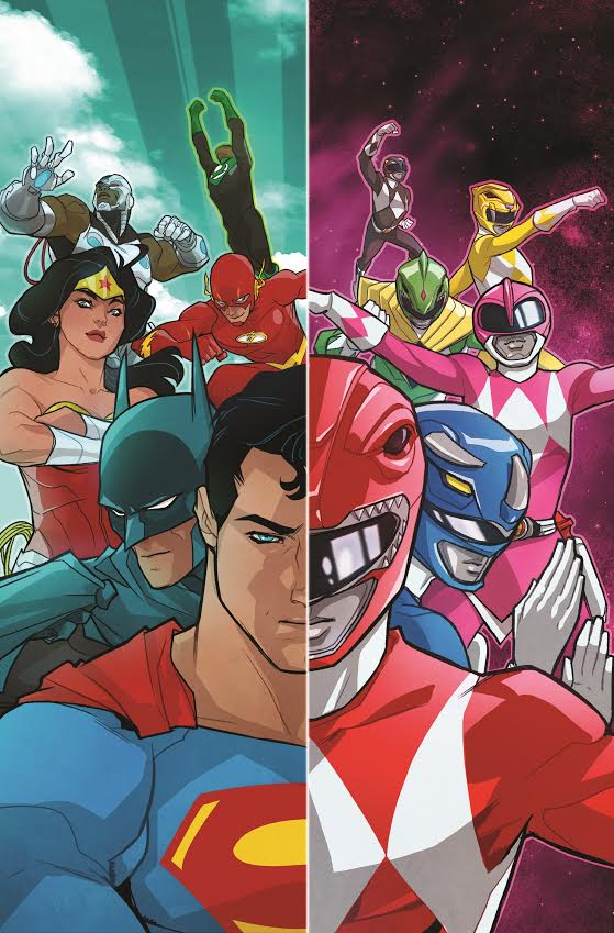 Justice League Power Rangers Crossover cover Saban Boom studios DC Comics