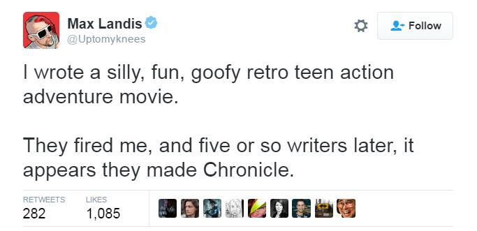 Power Rangers Tweet Max Landis