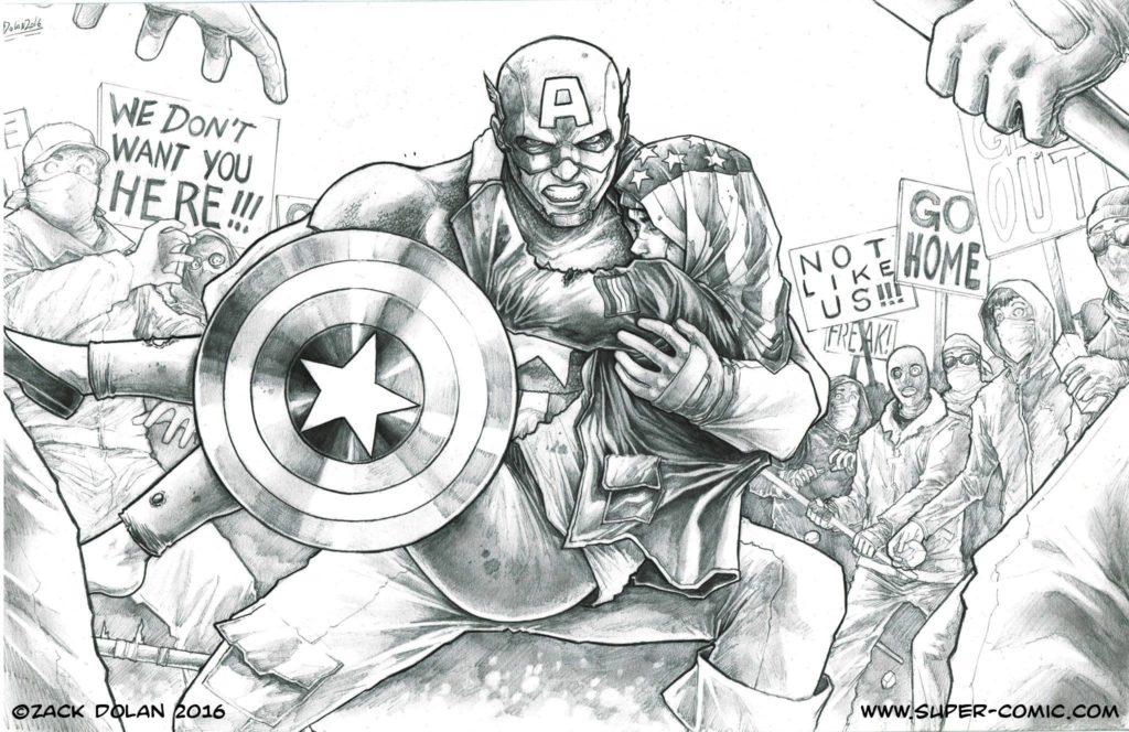 zach dolan captain america print