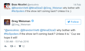 Weisman Offers Hope