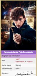 Fantastic Beasts and Where to Find Them review Newt Scamander Harry Potter wiki