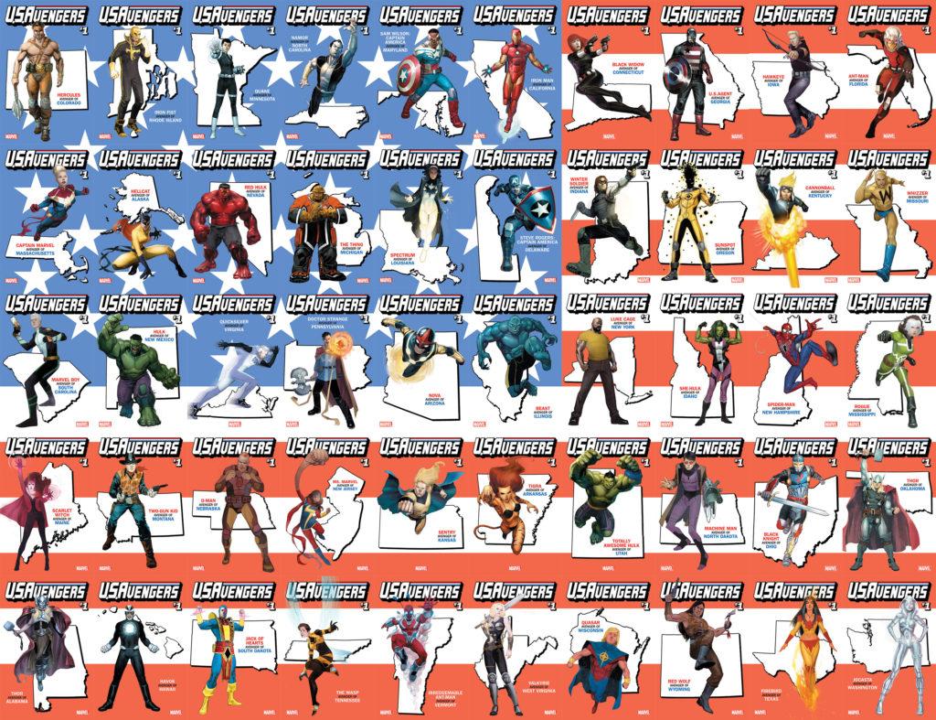 US Avengers state variants