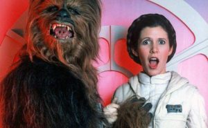 Carrie Fisher Tribute Princess Leia Chewbacca