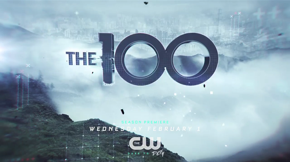 The 100 Season 4 title card