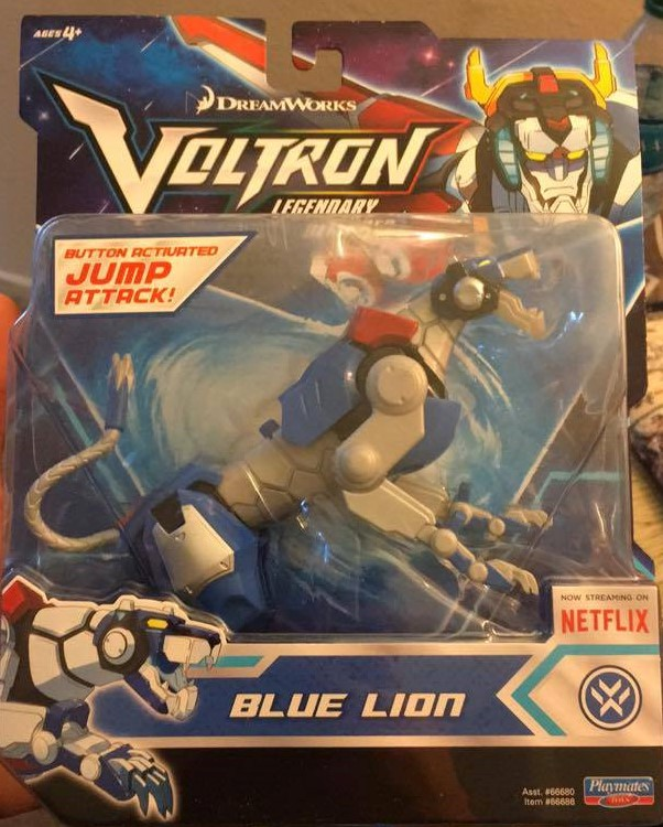 Playmates Toys Voltron Legendary Defender Netflix Basic Blue Lion