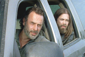 Rock in the Road The Walking Dead Rick Grimes Aaron