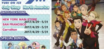 Yuri On Ice Pop-Up Shops Coming to America