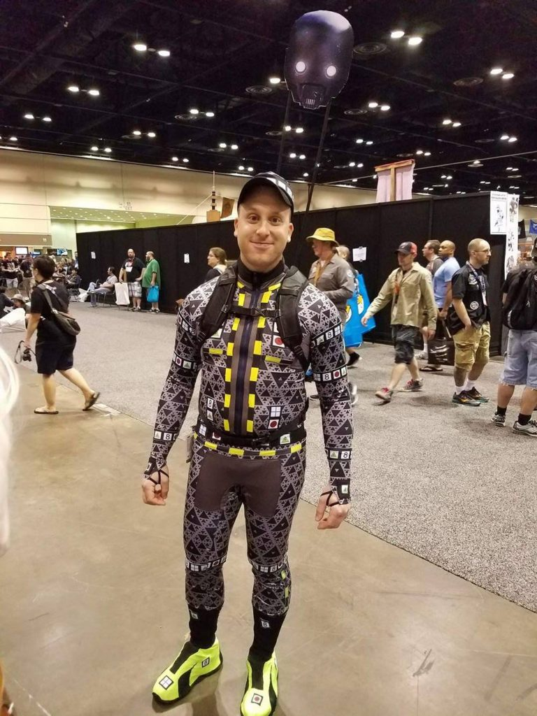 Star Wars Celebration Cosplay Alan Tudyk K2-SO Motion Capture