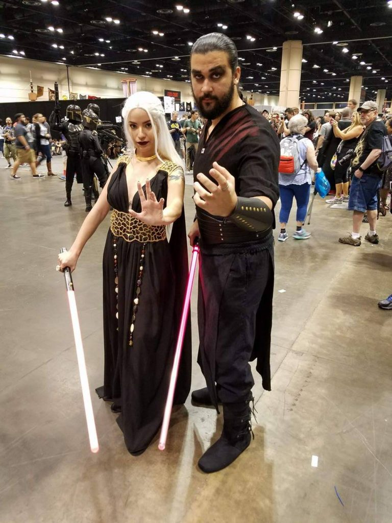 Star Wars Celebration Orlando Cosplay Darthraki Khal Drogo Daenerys Targaryen Game of Thrones
