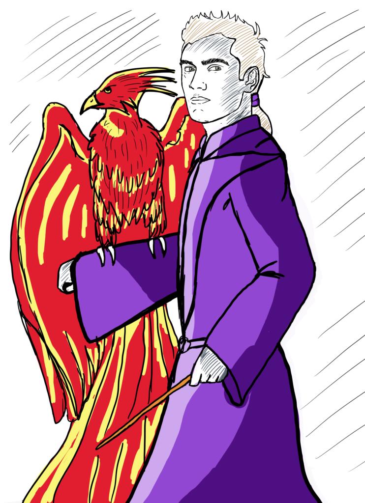 Jude Law Albus Dumbledore Fantastic Beats fanart