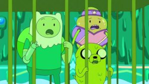 """""""Slime Central"""" - LSP, Finn and Jake inside The Loser's Cage"""