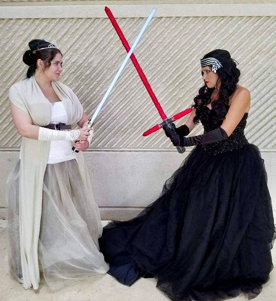 Star Wars Celebration Orlando Cosplay Disney Princess Kylo Ren Disney Princess Rey