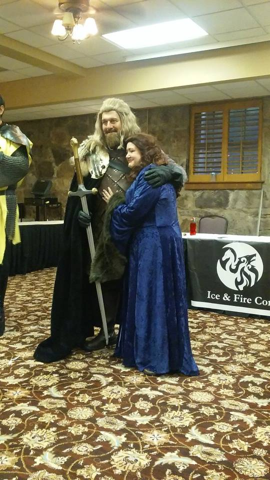 ice and fire con 2017 cosplay ned stark catelyn stark